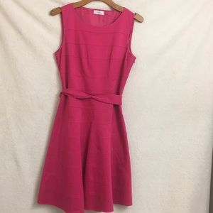 Calvin Klein casual daytime  A-line pink  dress